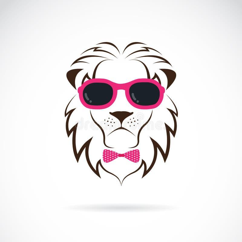 Imágenes del vector de las gafas de sol que llevan del león ilustración del vector