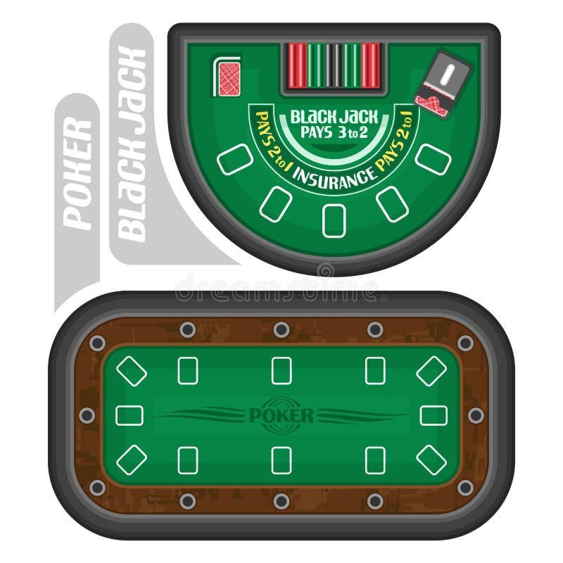 Imágenes del vector de las tablas del póker y de la veintiuna libre illustration