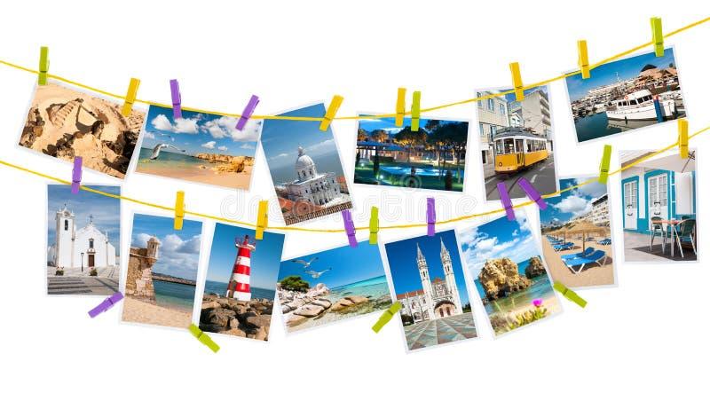 Imágenes del viaje de Portugal, collage imágenes de archivo libres de regalías