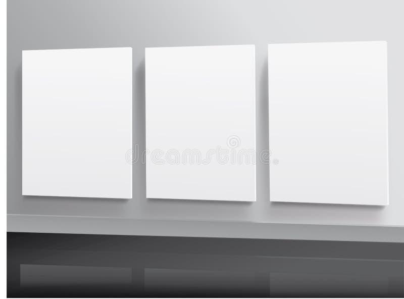 Imágenes en blanco en la pared ilustración del vector