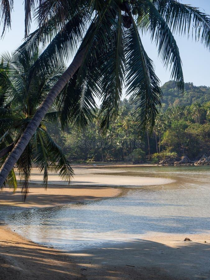Im?genes hermosas de playas arenosas en Koh Phangan fotos de archivo libres de regalías