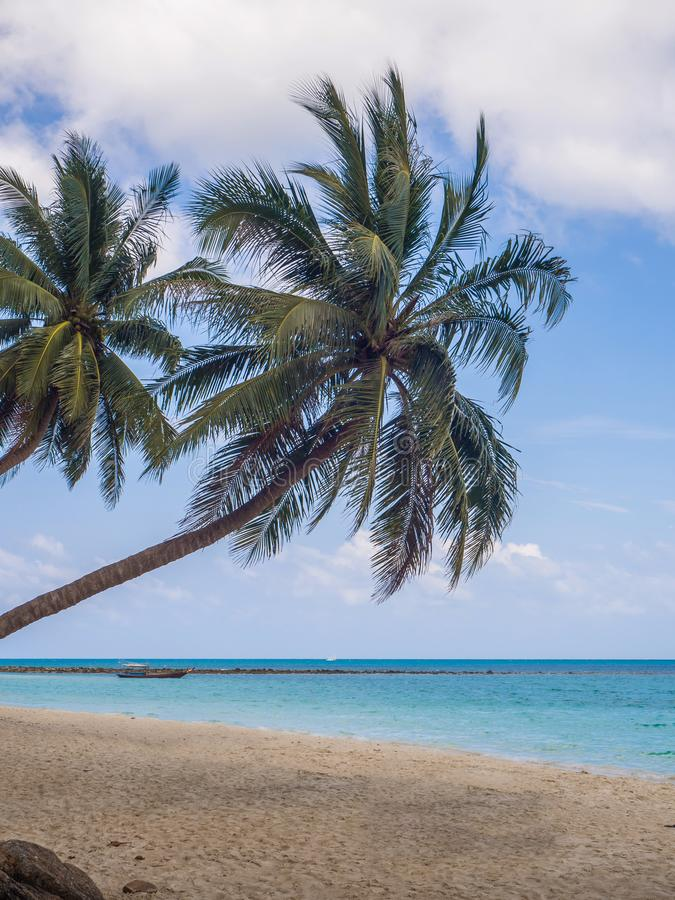 Im?genes hermosas de playas arenosas en Koh Phangan imagenes de archivo