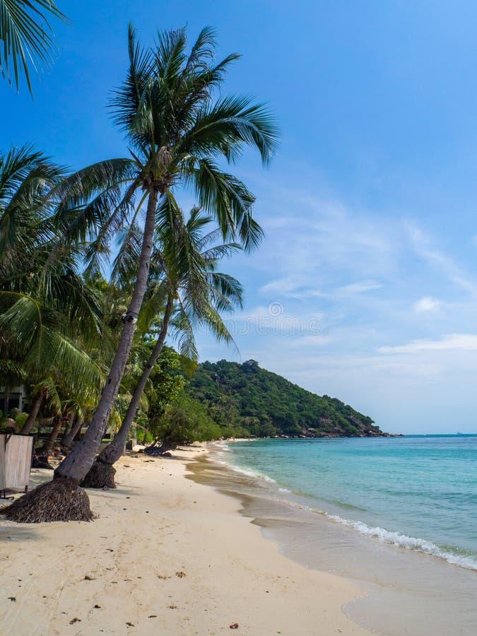 Im?genes hermosas de playas arenosas en Koh Phangan foto de archivo