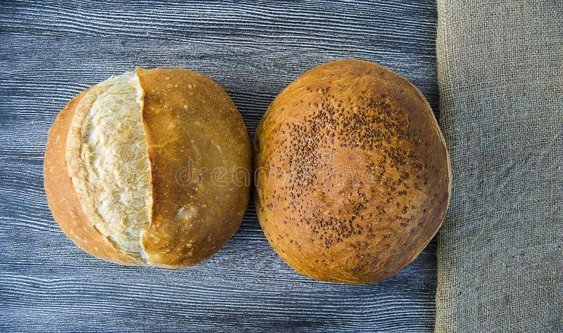 Imágenes naturales de la panadería del pan, tipos del pan del pavo, panes formados, variedades del pan del pan, diversos tipos de fotografía de archivo libre de regalías