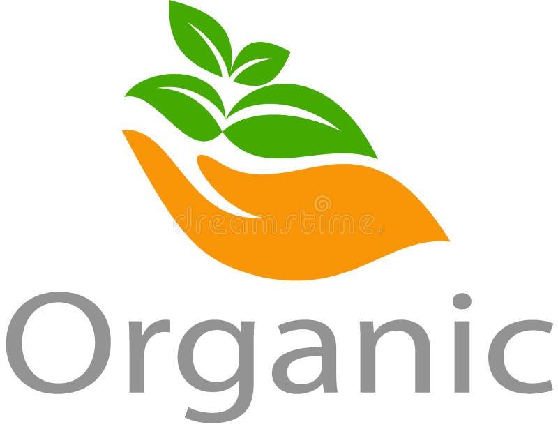 Imágenes orgánicas logotipo y plantilla ilustración del vector