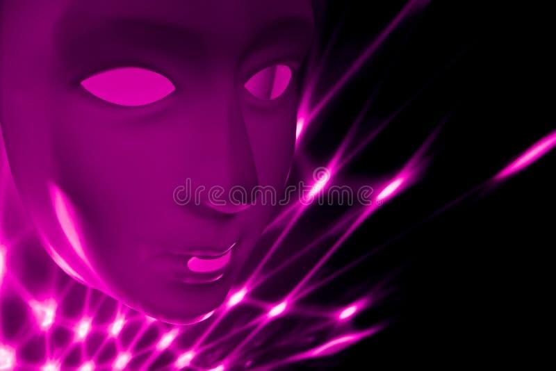 Imágenes púrpuras de la acción de la cara del extracto libre illustration