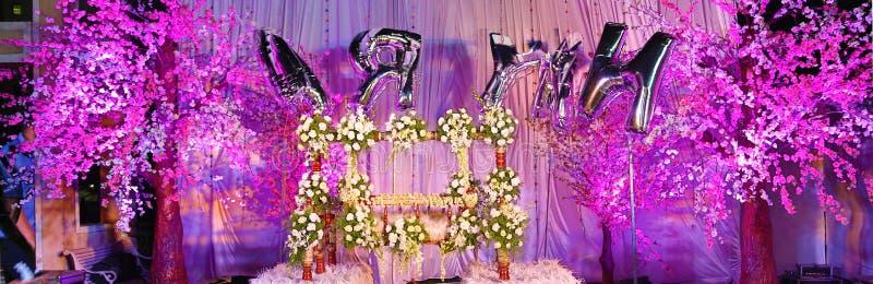 Imágenes para el bebé que nombra al decorador de la flor de la ceremonia imagen de archivo