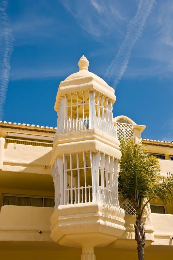 Im altem Stil Architektur in Màlaga lizenzfreies stockfoto