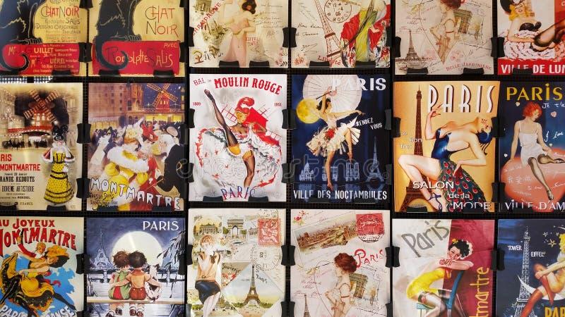 Im altem Stil Paris-Poster stockbilder