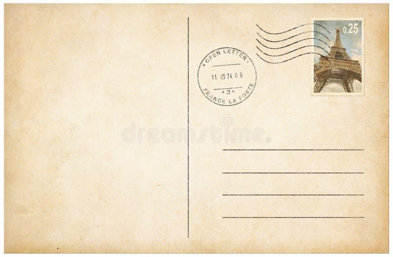 Im altem Stil Postkarte mit Illustration der Briefmarke 3d lizenzfreies stockbild