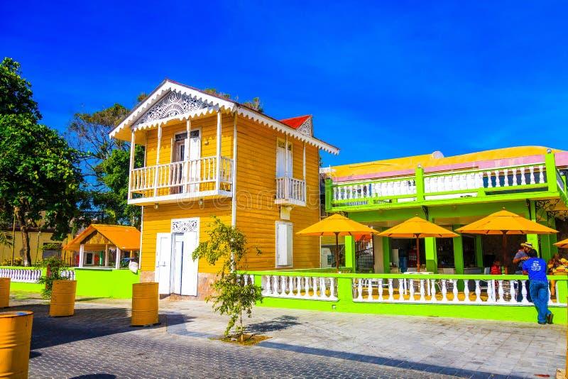 Im altem Stil schönes Haus in Puerto Plata, Dominikanische Republik stockfotos