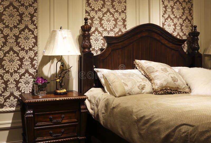 Im Amerikanischen Stil Schlafzimmer Verzieren Stockbild ...