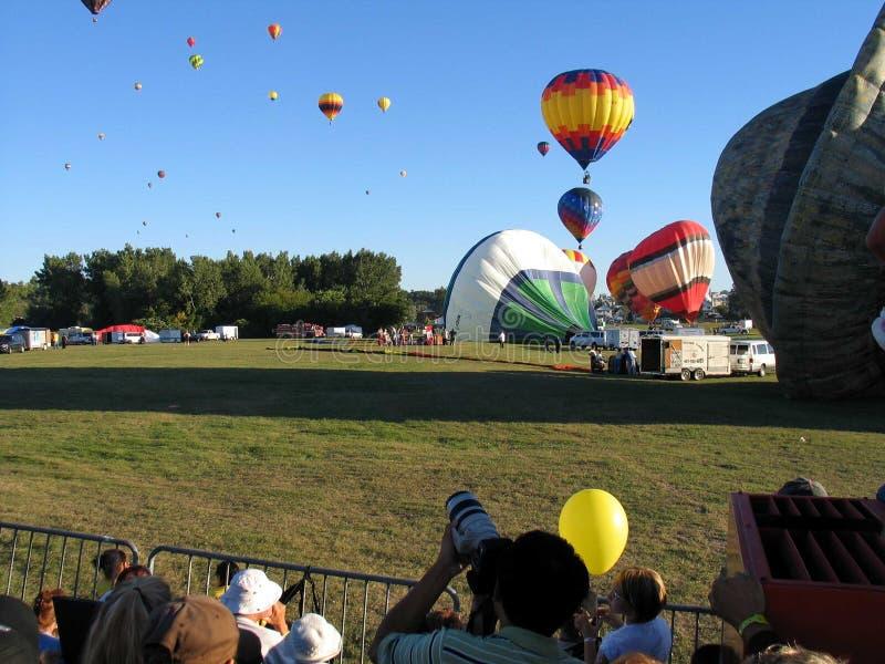 Im Ballon aufsteigen in Gatineau Kanada, Nordamerika stockfotografie