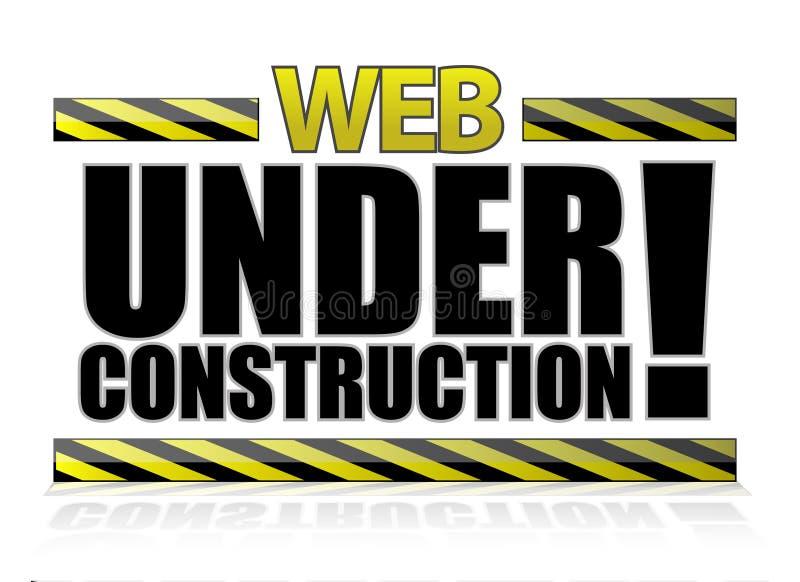 Im Bau Abbildung des Webs lizenzfreie abbildung