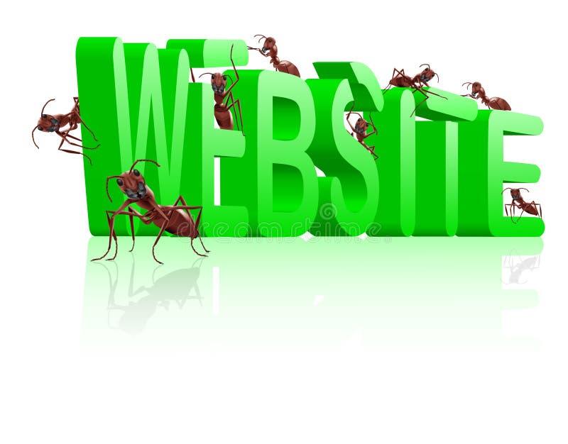 Im Bau Web-Entwicklung der Web site lizenzfreie abbildung