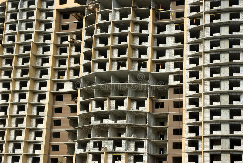Im Bau Wohnhausfragment lizenzfreies stockfoto