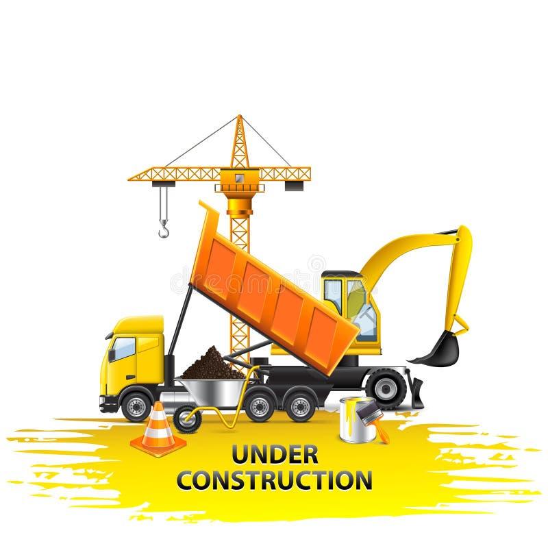 Im Bau Zusammensetzung vom Transportvektor stock abbildung