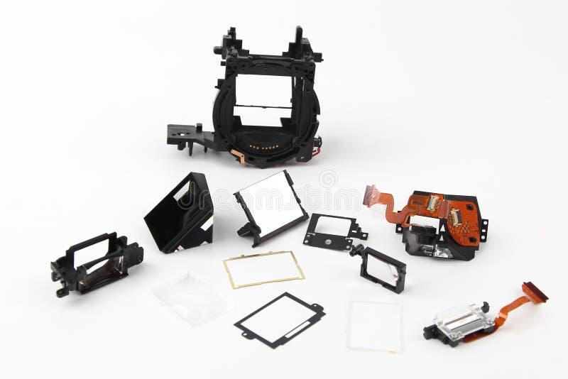Im Detail überprüft der Digitalkamera des elektronischen Verschlusses lizenzfreie stockfotografie