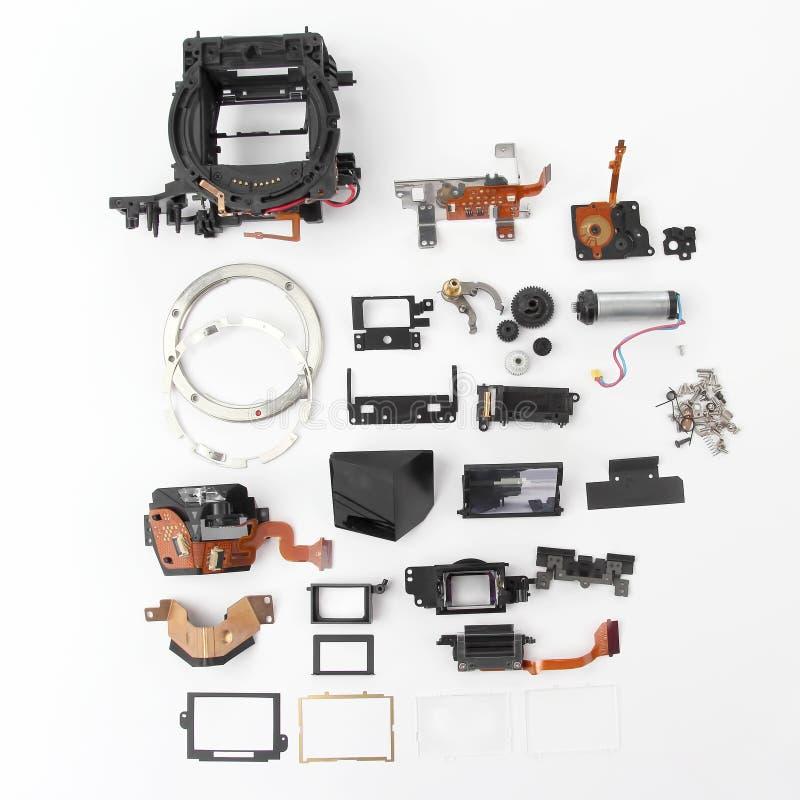 Im Detail überprüft der Digitalkamera des elektronischen Verschlusses lizenzfreie stockfotos