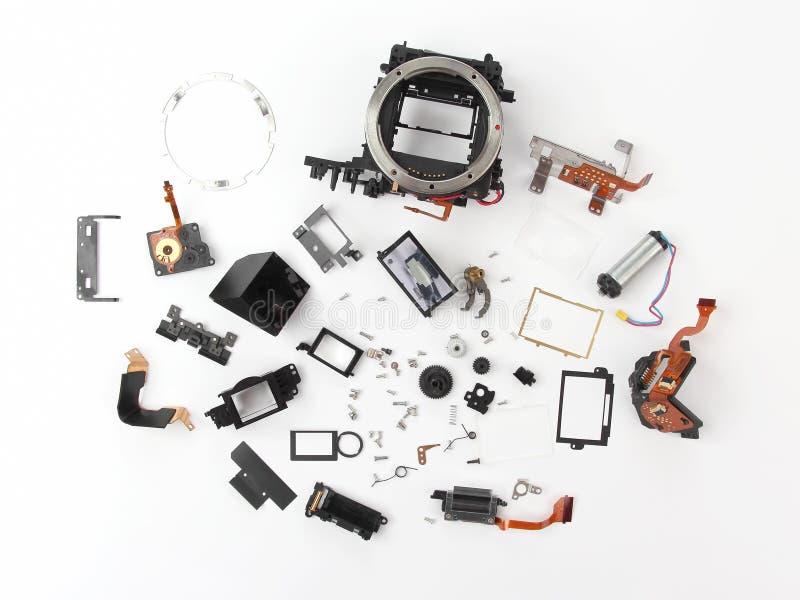 Im Detail überprüft der Digitalkamera des elektronischen Verschlusses lizenzfreies stockbild