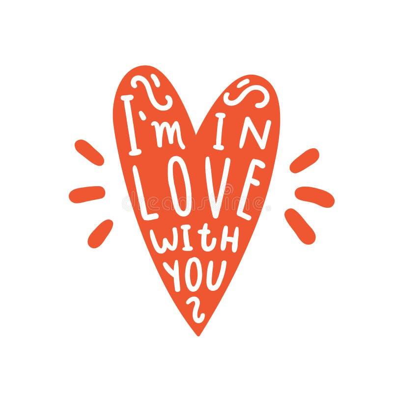 Im en amor con usted ilustración del vector