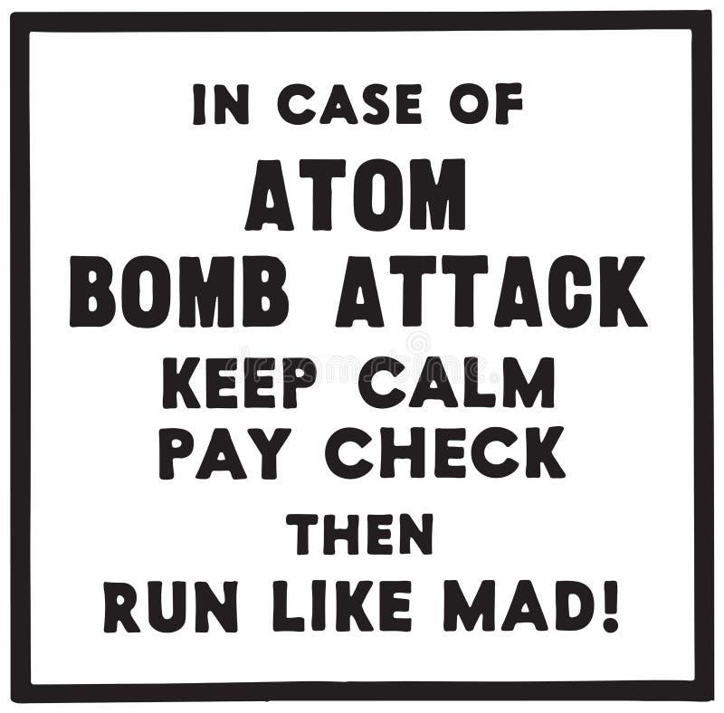 Im Falle des Atom Bomb Attacks stock abbildung