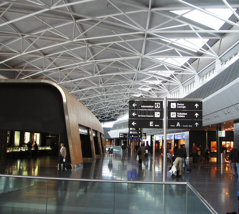 Im Flughafen stockfoto