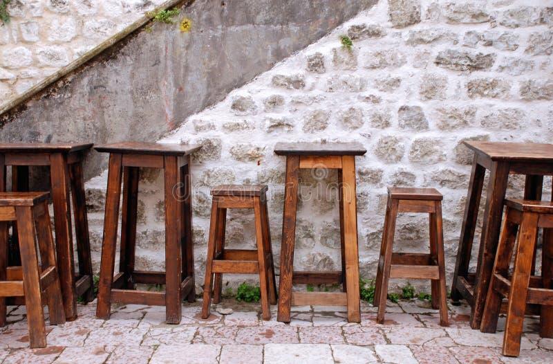 Im Freien europäischer Kaffee lizenzfreie stockfotos