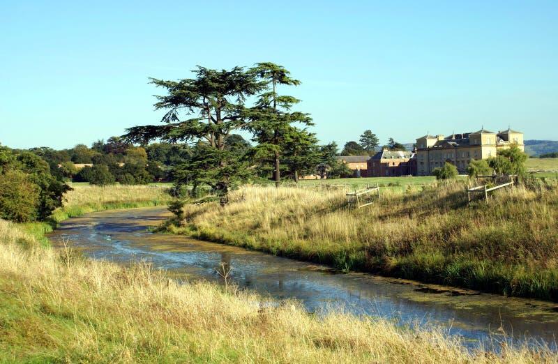 im Freienansicht Croome-Fluss in Worcestershire, England lizenzfreies stockbild