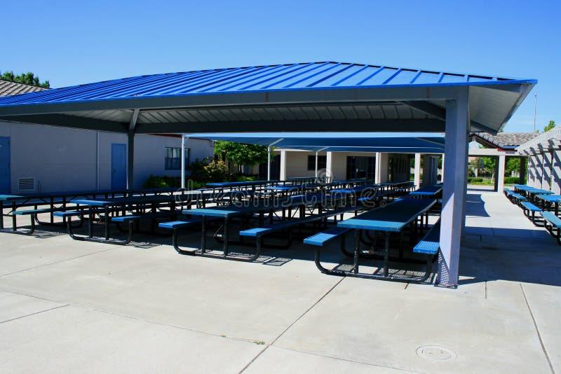 Im Freiencafeteria stockfotografie