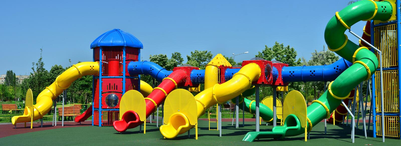 Im Freienkindspielplatz stockfotografie