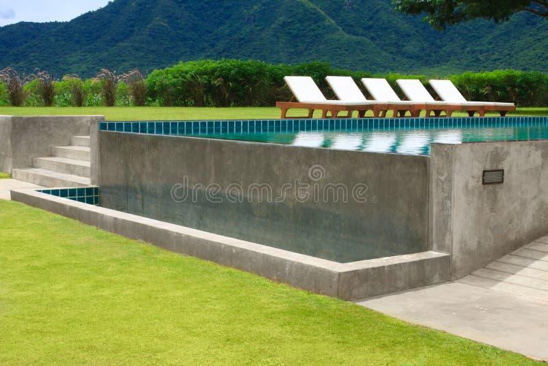 Im FreienSwimmingpool stockbilder