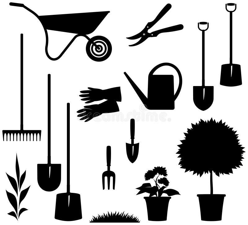 Im Garten arbeitenfelder â vektorabbildung vektor abbildung