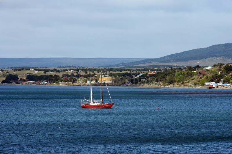 Im Hafen des Hafens von Punta Arenas lizenzfreie stockfotografie