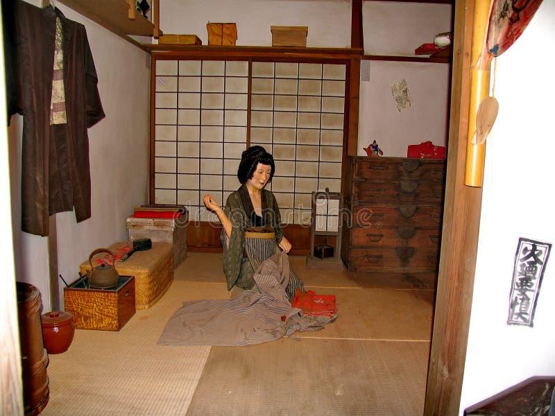 Im historischen Samuraidorf Edo Dynastys Erstellte hier das japanische Dorf der Mittelalter neu stockfotos