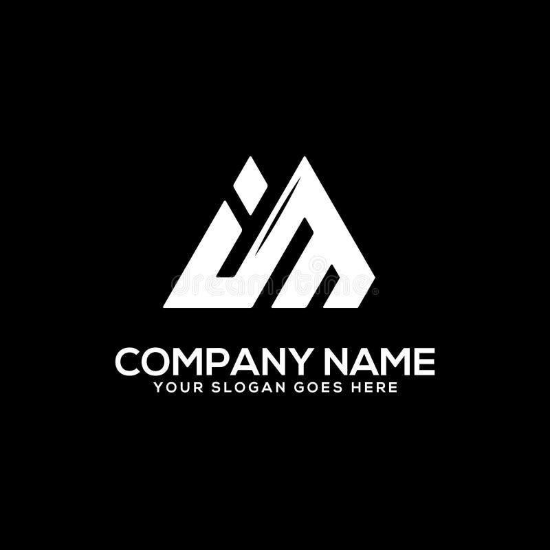 Black Luxury Golden 3d Logo Mockup: Capital M Logo With Classic Background Stock Illustration
