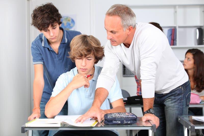 Im Klassenzimmer stockfoto