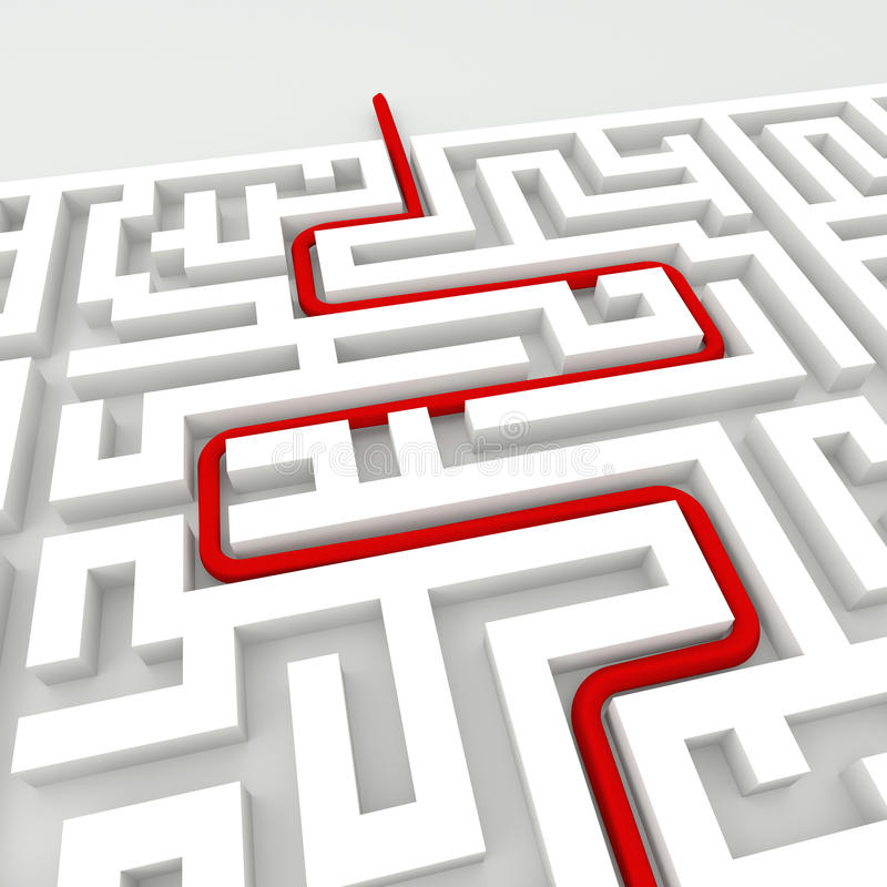 Im Labyrinth stock abbildung