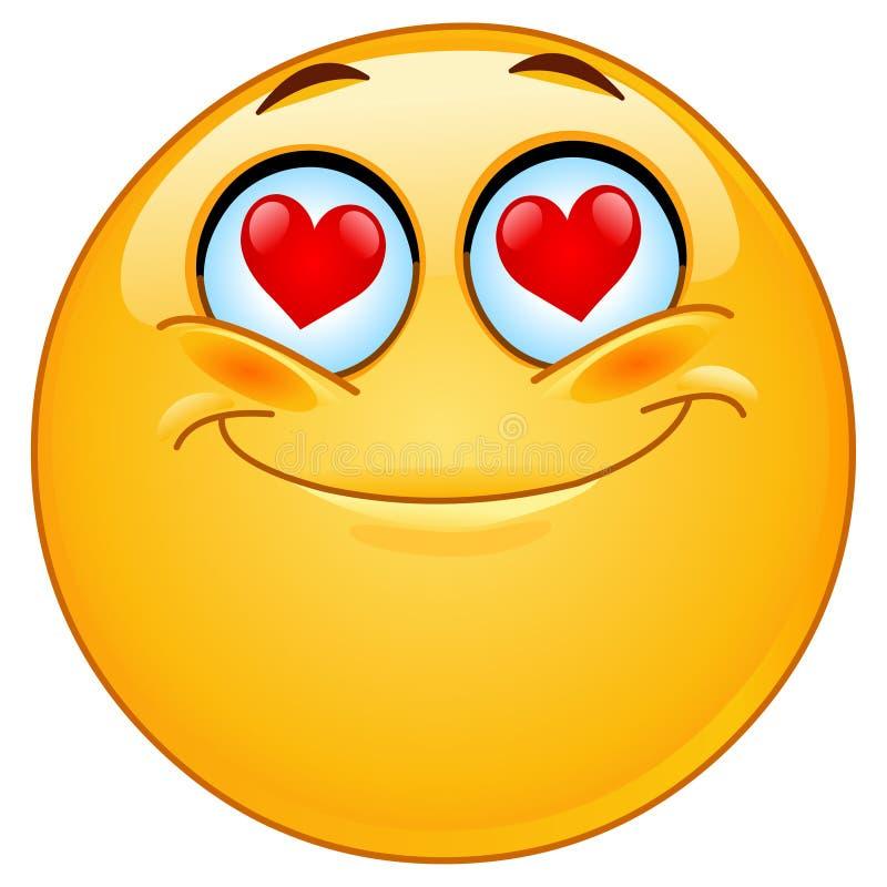 Im Liebe Emoticon lizenzfreie abbildung