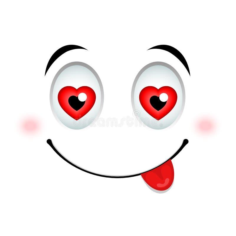 Im Liebe Emoticonzeichen lizenzfreie abbildung