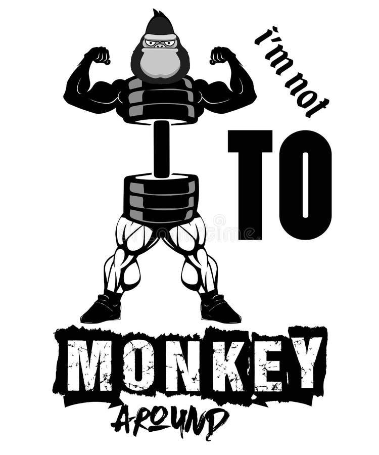 Im no aquí para monkey el arownd imagenes de archivo