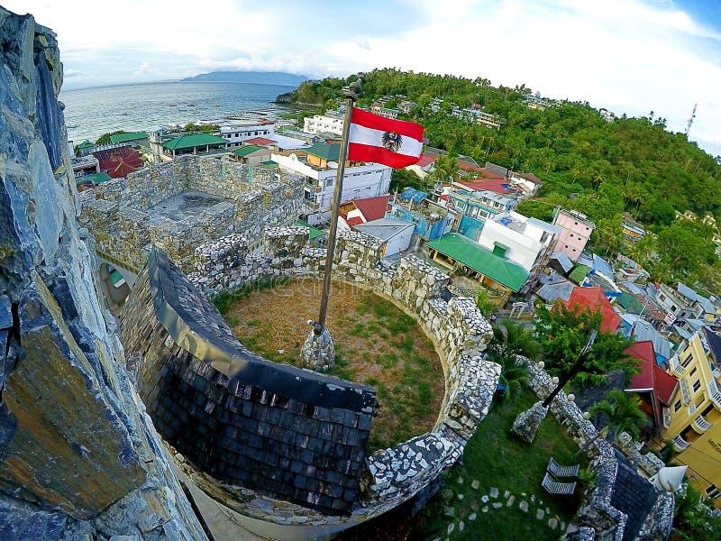 Im Philippinen-SEITE Tropicana-Schloss-Erholungsort stockfotos