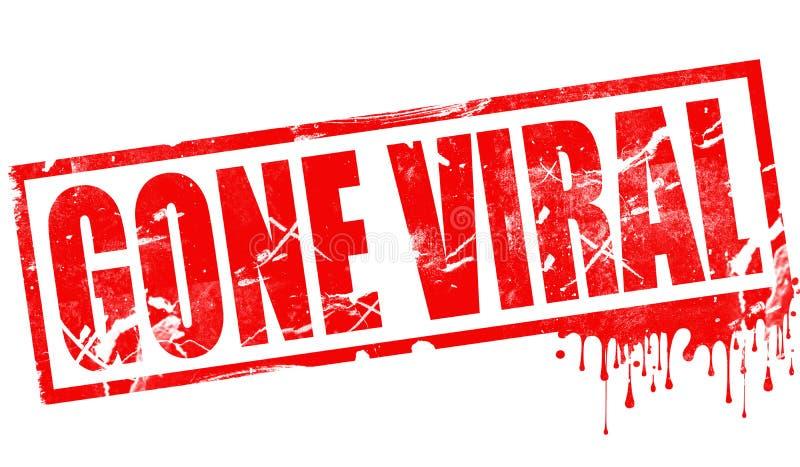 Im roten Tintenstempel Viren gegangen stock abbildung