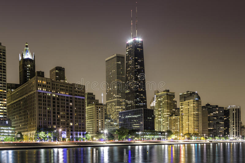Im Stadtzentrum gelegene ausgezeichnete Meile Chicagos lizenzfreie stockbilder