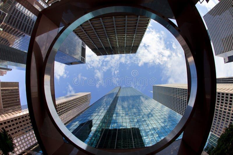 Im Stadtzentrum gelegene Bürohaus lizenzfreies stockbild
