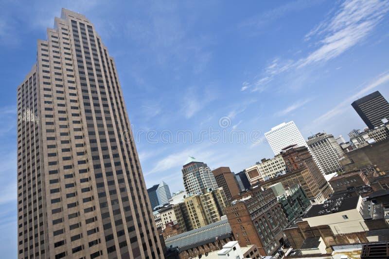 Im Stadtzentrum gelegene Cleveland-Morgenzeit stockbild