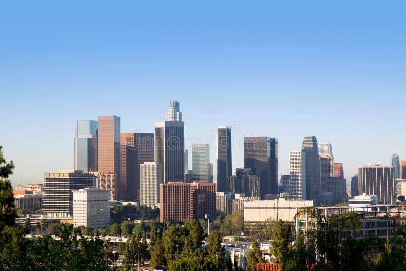 Im Stadtzentrum gelegene LA Los Angeles-Skyline Kalifornien lizenzfreie stockfotos
