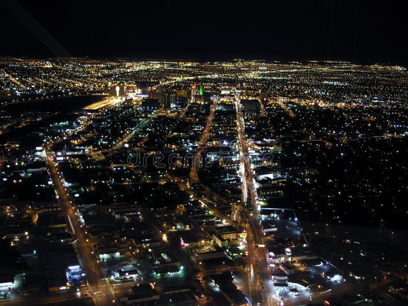 Im Stadtzentrum gelegene Las- Vegasnacht lizenzfreie stockfotos
