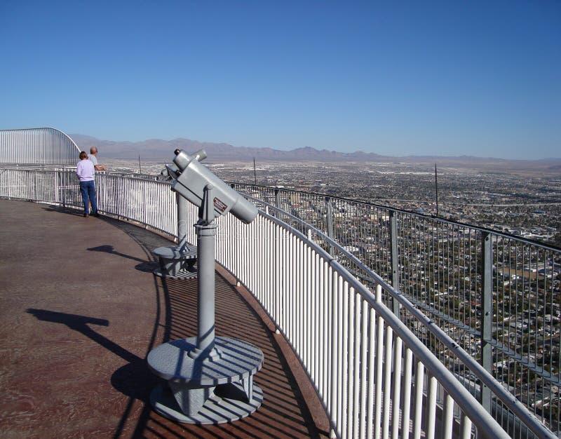 Im Stadtzentrum gelegene Las- VegasSkyline lizenzfreie stockbilder