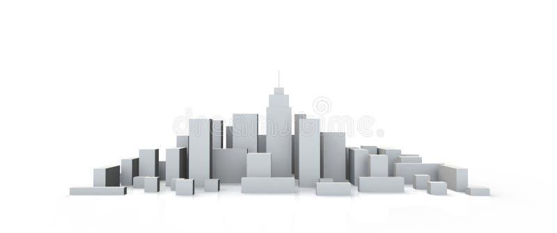 Im Stadtzentrum gelegene Perspektive der Architektur-vorbildlichen Miniatur 3D vektor abbildung